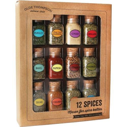 (Olde Thompson Mason Spice Jar Gift Set - 12 Spices)