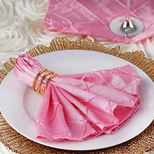 (Mikash Pack of 15 Pintuck Style Napkins Wedding Party Banquet 20+ Colors | Model WDDNGDCRTN - 20406 |)