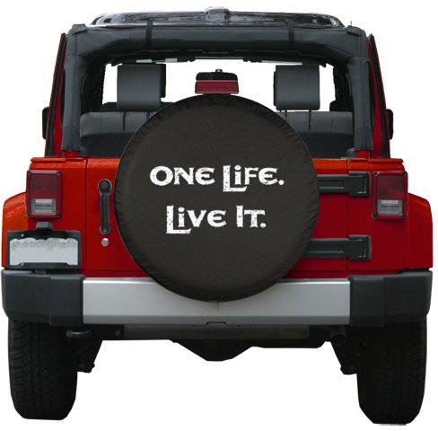 Amazon Com 26 One Life Live It Spare Tire Cover Black Denim