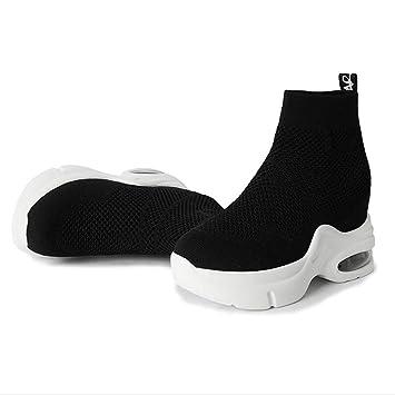 2e0b3857df165 Amazon.com: Hy Women's Socks Shoes Spring/Fall Knit Heighten ...
