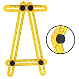 Angle Template Tool, Runfish Multi Angle Template Ruler Tool Measures All Angles for Handymen, Builders, Craftsmen, DIY-ers, Yellow