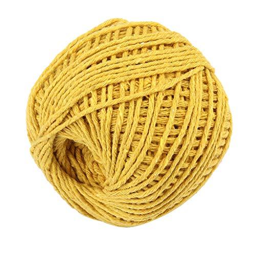 WPOtee Macrame Cord 1.5mm X 100m Natural Virgin Cotton Natural Color Macrame Wall Hanging Plant Hanger Macrame Swing Chair Boho Dream Catcher DIY Craft Making Knitting Rope (J)