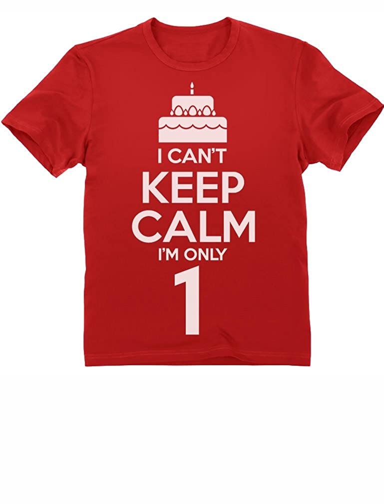 f2ea15ef4 First Birthday Cake - I Can't Keep Calm I'm One Year Old Cute 1st Bday  Toddler/Infant Kids T-Shirt: Amazon.co.uk: Clothing