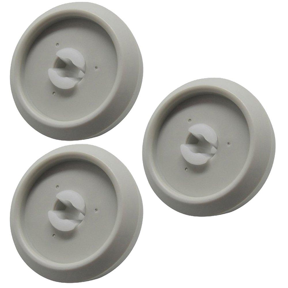 Pack of 3 Miele Genuine Dishwasher Lower Basket Wheel /& Axle