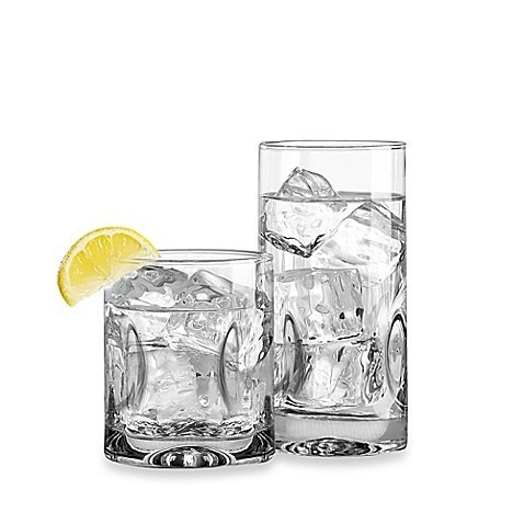 Dailyware Impressions 16-Piece Glassware Set, Stylish Glass, Perfect for Party and All Purpose Occassion Use (1)