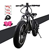 NAKTO 20″ Commute Electric Bicycles [1 Year Warranty] 250W/300W Power Assisted Bicycle for Male Female Teenagers with Removable 36V 10A Large Capacity Lithium Battery and Charger E-Bike