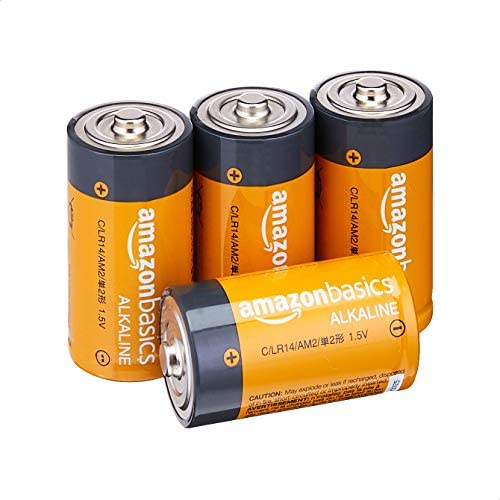 AmazonFundamentals C Cell Everyday 1.5 Volt Alkaline Batteries - Pack of four