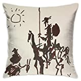 KkdsKkds Picasso Don Quixote Throw Pillow Cover Cushion Case, Lovely Sofa Pillow,Modern Decorative Square Pillow Case for Sofa Couch Bed 18'X18'