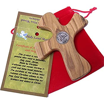 Amazon Com No Greater Love Olive Wood Comforting Cross