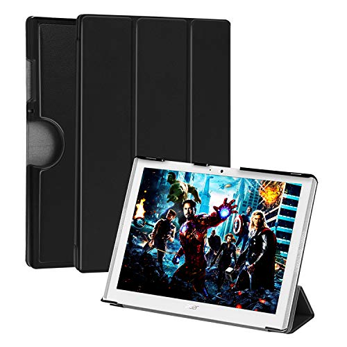 Acer Iconia One 10 B3-A40 Case with Strong Magnetic - Xindayi Slim & Lightweight Case Designed for Acer Iconia One 10 B3-A40 10.1inch Tablet - Black (Tab Iconia Acer Case)