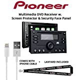 Pioneer AVH-1330NEX 6.2'' DVD Receiver HD Radio Apple CarPlay Built in Bluetooth with Screen Protector, Security Panel, Lightening to USB Adapter and a SOTS Lanyard
