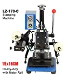 Huanyu Instrument®LZ-170-C Manual hot foil stamping machine Marking press Embossing machine Business card/leather/plastic/paper creasing machine (Stamping area:16x15cm)