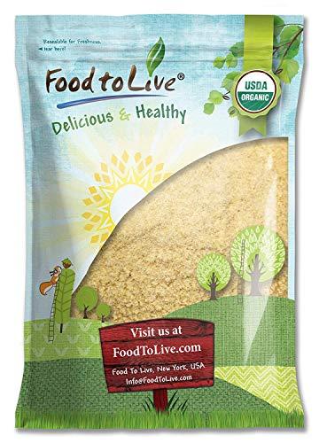 Food to Live Certified Organic KAMUT Khorasan Wheat Flour (Stone Ground Powder, 100% Whole Grain Meal, Non-GMO, Kosher, Bulk) (10 Pounds)