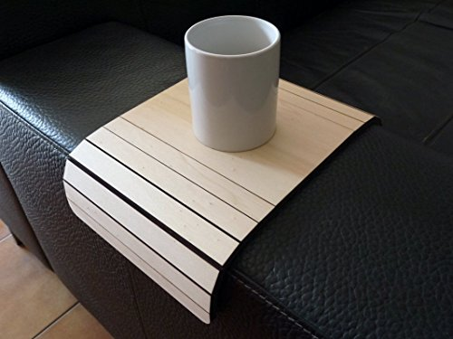 Wooden couch arm tray 20 Available colors Furniture for armchair table Made of poplar plywood Modern slinky sofa tables design by italian designer Laser cut wood and handmade in Italy