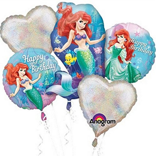 (Princess Ariel Birthday Balloon Bouquet Combo Mylar Foil)