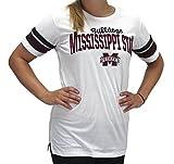 Pressbox Women' s Mississippi State MSU Bulldogs White T-Shirt Runs Small