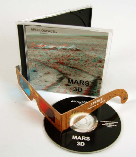 CD with 300 MARS 3D Anaglyph Images - 3D glasses included