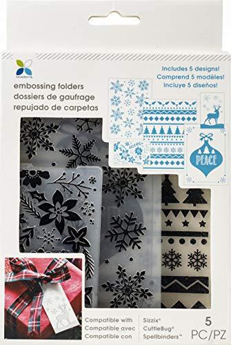 Momenta Embossing Folder-winter Snowflakes & Deer ()