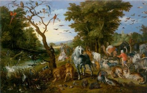 Oil Painting 'The Entry Of The Animals Into Noah's Ark, 1613 By Jan Brueghel The Elder' Printing On Perfect Effect Canvas , 16x25 Inch / 41x64 Cm ,the Best Nursery Decor And Home Gallery Art And Gifts Is This Replica Art DecorativeCanvas Prints - Noahs Ark Knob