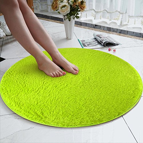 8080 Chair - Rug Mat, 80cm Soft Coral Velvet Round Rug Anti-Skid -Chair Cover Wool Warm Hairy Carpet Seat,Floor Foam Carpet for Living Bedroom,Gym Exercise,Yoga Workout Indoor Decor (L, 8080cm)