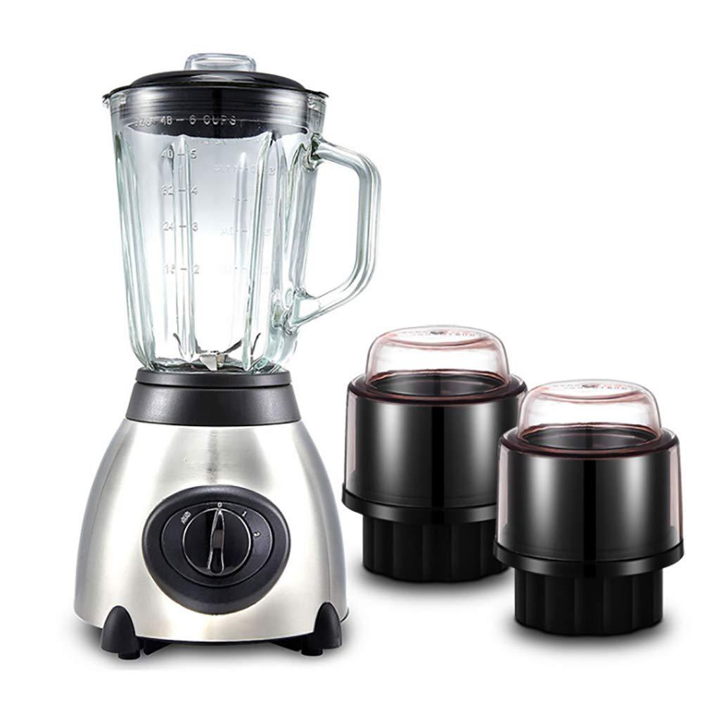 Batidora para alimentos, mezclador electromecánico para uso doméstico multifunción - Cuerpo de cristal, 1500 ml, 7 funciones, con taza de molido, ...