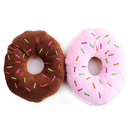 Rachel Pet Products Sweet Doughnut Shaped Plush Toys - Donut Cat Toy