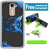 [Ashley Cases] LG G Stylo 2 (LS775) / G Stylo 2 Plus (MS550) Cover Case Skin with Flexible Phone Stand - Pokemon Team Mystic Slash