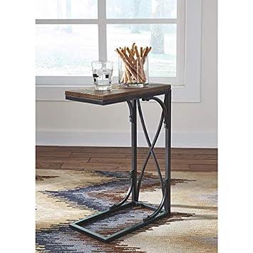 Ashley Furniture Signature Design – Golander Chairside End Table – Medium Brown