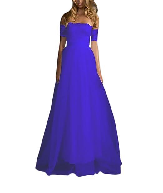 Vestidos De Fiesta para Bodas Largos Mujer Elegantes Encaje Tul Una Línea Vestidos De Novia Sin