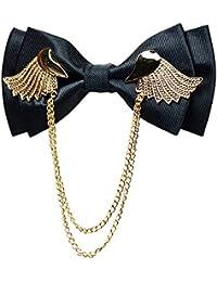 Men's Adjustable Metal Golden Wings Two Layer Neck Bowtie Bow Tie