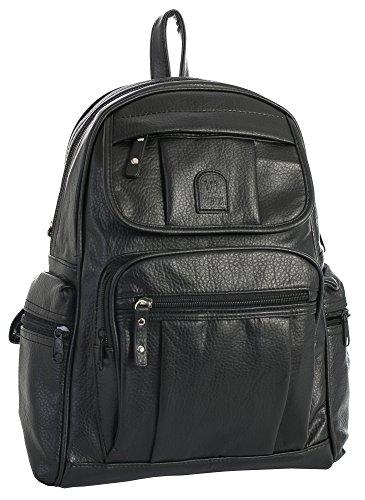 Big Handbag Shop , Sac à main porté au dos pour femme Design 4 - Black