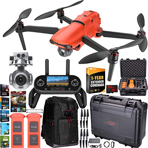 Autel Robotics EVO 2 Drone Folding Quadcopter Rugged Combo 8K HDR Video and 48MP Camera EVO II Extended Warranty…