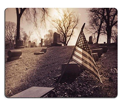 Luxlady Mousepad Old cemetery vintage look with sun IMAGE 33275309 (Eerie Vintage Halloween Photos)