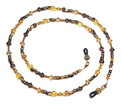 (Smoke Topaz/Colorado Topaz Brown Seed Bead Mix Eyeglass Chain)