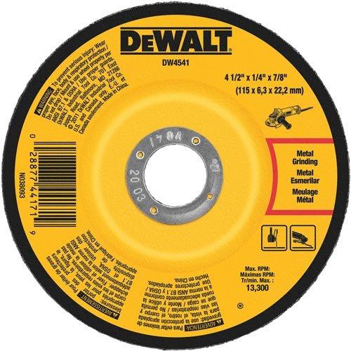 DEWALT DW4547 7-Inch by 1/4-Inch High Performance Fast Metal Grinding Wheel, 7/8-Inch Arbor