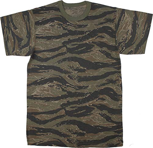 11c4947083b66 Army Universe Tiger Stripe Camouflage Short Sleeve T-Shirt Pin - Size  X-Large (45