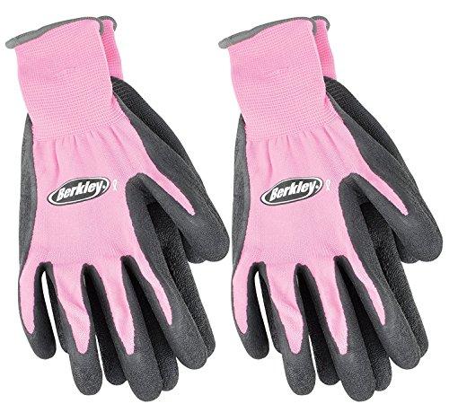 Berkley Pink Fishing Gloves 2 Pack, Fish Handling Gloves Protect Against Scales, Slime, Fins, Provide Grip