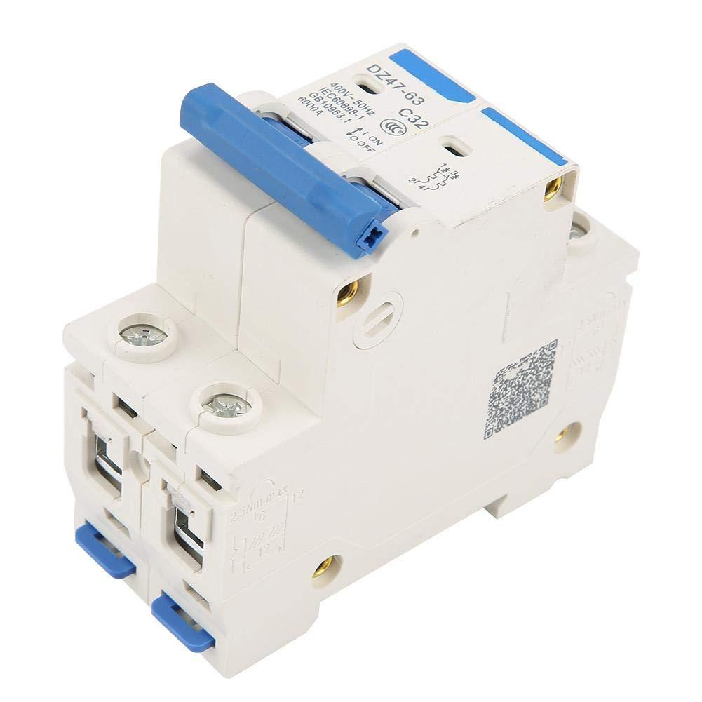 DZ47-63 RCCB 2P 32A 220//380V Interruptor de Aire Interruptor de Circuito Interruptor de Circuito Abierto