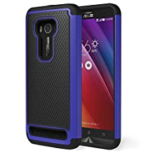 Zenfone 2 Laser Case, MoKo [Shock Absorption] Slim Dual Layer Protective Case with Soft Silicone Bumper and Rigid PC Back Cover for ASUS Zenfone 2 Laser (ZE550KL / ZE551KL) 5.5 Inch - Indigo