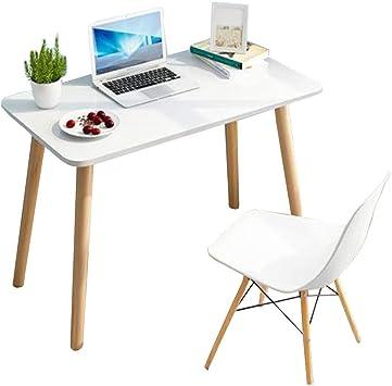 LJYAO IKEA - Mesa para Ordenador portátil, Patas de Madera Maciza ...