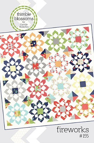 Fireworks Pattern - Thimble Blossoms FIREWORKS PATTERN Quilting Sewing Fabric TB 155G