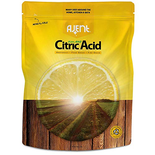 Ajent Citric Acid 100% Pure Food Grade Non-GMO (Approved for Organic Foods) 10 Pound