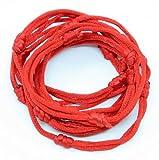 10 Red Hand Made Lucky String Kabbalah Bangle