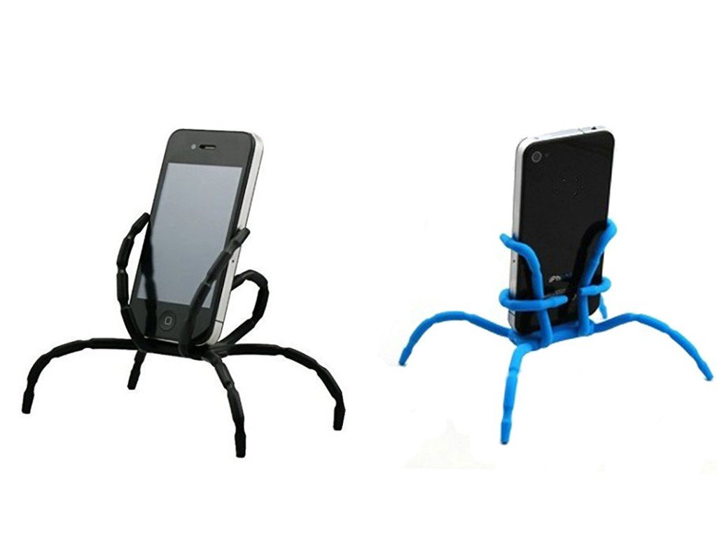 Auroralove 4351664117 Aurora/® Universal Multi-function Spider Flexible Phone Car Holder hanging Mount and Stand for iPhone 6 plus//6//5//5S 4//4S and samsung Andriod Phones in Car Bicycle Desk Plane 4 Pack Black