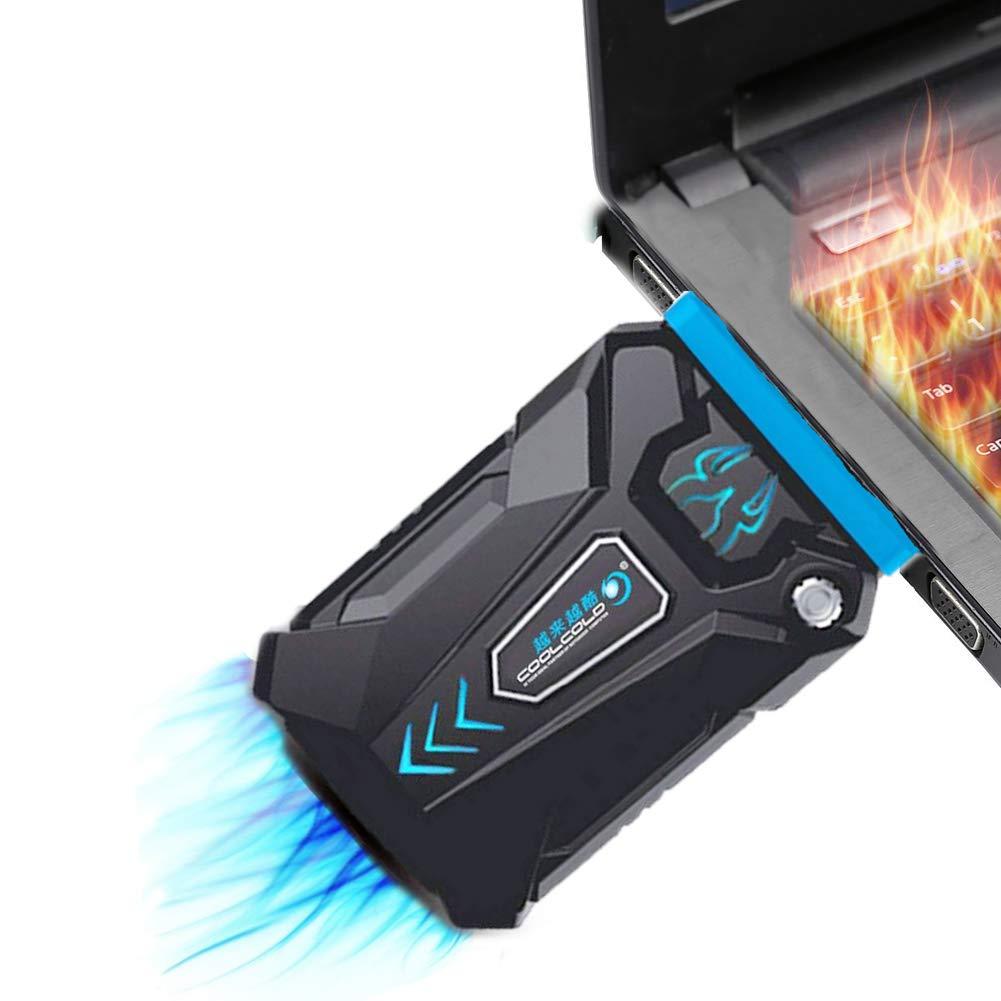 MFEI Raffreddatore Portatile per Laptop ad Alte Prestazioni Cool Cool-Gaming per PC Portatile con Ventola per estrattore dAria Calda Esterno Silenzioso ad Azione Rapida di Raffreddamento USB