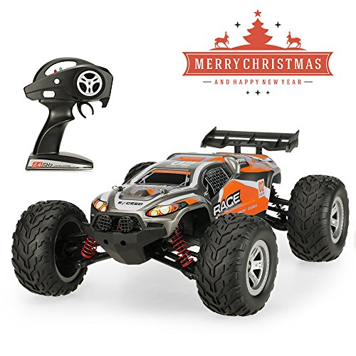 JTT-TOYS RC Car, All Terrain Remote Control Car FY-10 40km/h 1/12 Scale Waterproof Off-Road 2.4GHz Radio RC 4WD High Speed Truck,Orange by JTT-TOYS