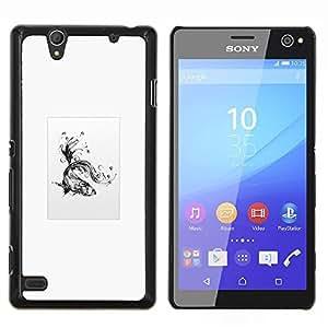 """Be-Star Único Patrón Plástico Duro Fundas Cover Cubre Hard Case Cover Para Sony Xperia C4 E5303 E5306 E5353 ( Goldfish tribal"""" )"""