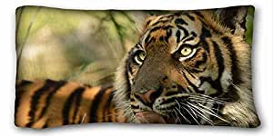 Generic Personalized Animal Custom Cotton & Polyester Soft Rectangle Pillow Case Cover 20x36 inches (One Side) suitable for Queen-bed