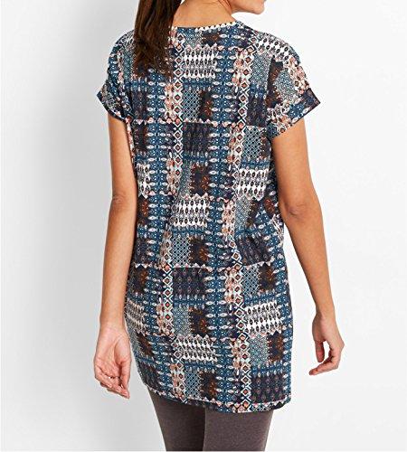 89651e672f6861 ... Damen Boxy-Longshirt, 198432 in Hellimone. Acevog Damen Bleistiftkleid  Businesskleid Etuikleid Shirtkleid Elegant Rundhals Basic Knielang Kleid ...
