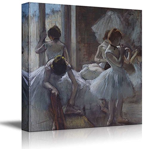 - wall26 The Dancers by Edgar Degas - Canvas Art Home Decor - 12x12 inches